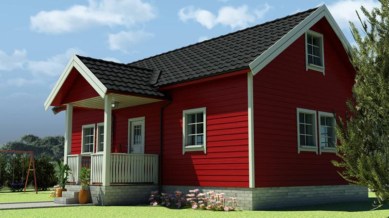 Rødt hus: Perspektiv