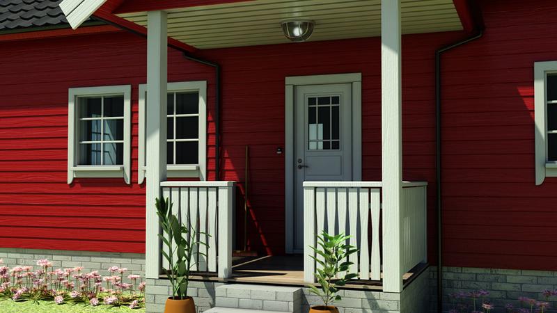 Rødt hus: Inngangsparti