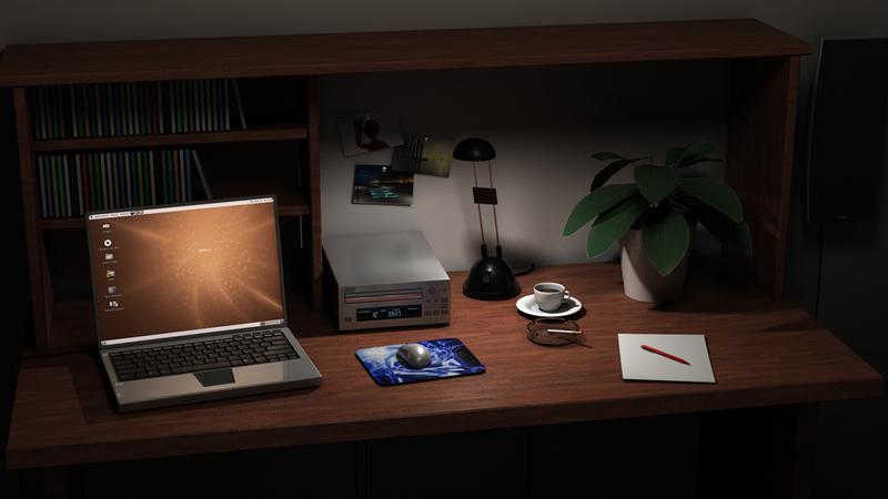 Interior: Desk
