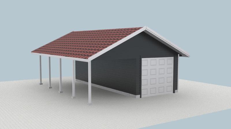 Garasje - isolert render