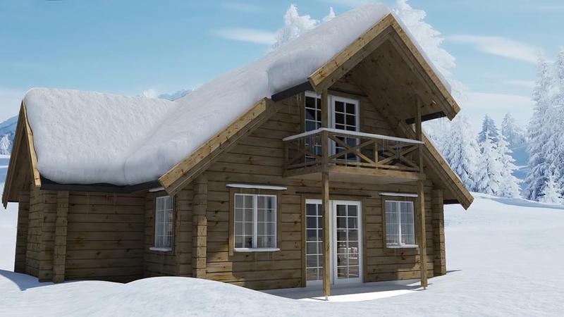Laftet hytte - Eksteriør